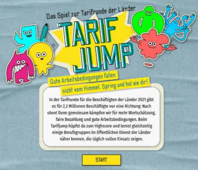 Das Spiel zur Tarifrunder der Länder: Tarif Jump